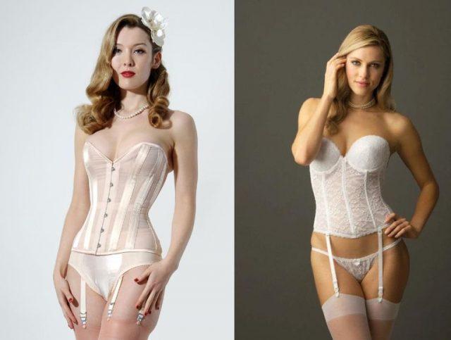 La différence entre corset, bustier et guêpière