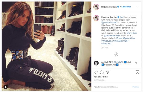 Corset minceur Khloe Kardashian